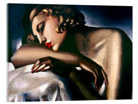 Acrylic print  The sleeper - Tamara de Lempicka