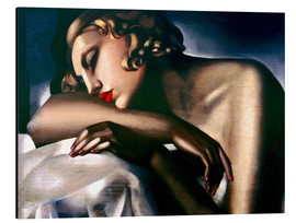 Aluminium print  The sleeper - Tamara de Lempicka