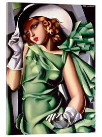 Acrylic print  Young lady with gloves - Tamara de Lempicka